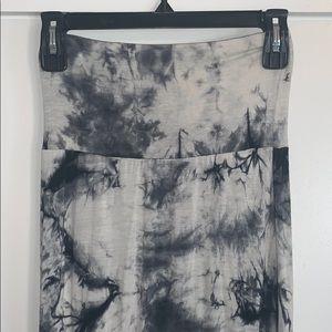 Black & White Tie-Dye Maxi Skirt